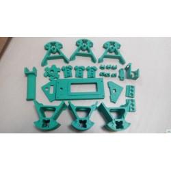 Kossel Mini PLA Printed Parts